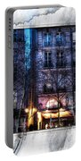 Green Pipes Of Pompidou Center Paris Portable Battery Charger