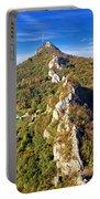 Green Scenery Of Kalnik Mountain Ridge Portable Battery Charger