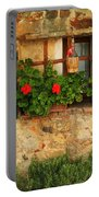 Green Shutters And Window In Chianti Portable Battery Charger