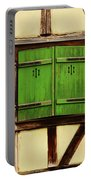 Green Shutters In Colmar France Portable Battery Charger
