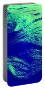 Green Snow Dune Abstract Portable Battery Charger