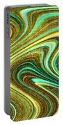Green Swirls Mind Bend Portable Battery Charger