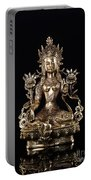 Green Tara Buddhist Goddess Statue Portable Battery Charger