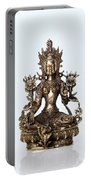 Green Tara Goddess Statue Portable Battery Charger