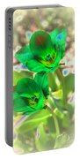 Green Tulips Portable Battery Charger