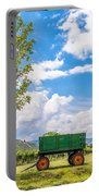 Green Wagon And Vineyard Portable Battery Charger