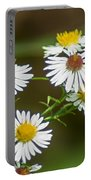 Green Wasp And Daisies Portable Battery Charger
