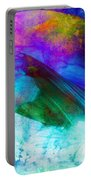 Green Wave - Vibrant Artwork Portable Battery Charger