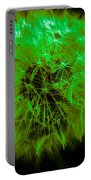 Green Yellow Dandelion Portable Battery Charger