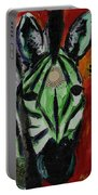 Green Zebra Stripes  Portable Battery Charger