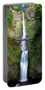 Greenery Of Multnomah Falls Portable Battery Charger