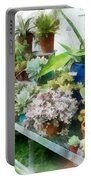 Greenhouse With Cactus Portable Battery Charger