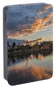 Greenlake Autumn Sunset Portable Battery Charger
