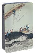 Greenland Whale Book Illustration Engraved By William Home Lizars  Portable Battery Charger