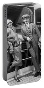 Greta Garbo Aboard Ship Portable Battery Charger