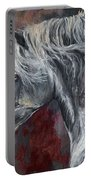 Grey Andalusian Horse Oil Painting 2013 11 26 Portable Battery Charger