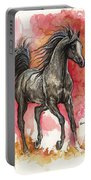 Grey Arabian Horse 2014 01 12 Portable Battery Charger