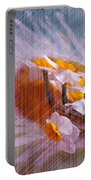 Grid Above Flowers Portable Battery Charger