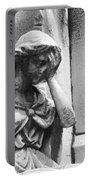 Grieving Statue Portable Battery Charger by Jennifer Ancker