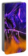 Grim Reaper In Abstract Portable Battery Charger