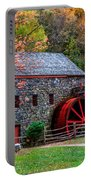 Grist Mill In Autumn Portable Battery Charger