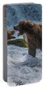 Grizzlies Fighting Portable Battery Charger