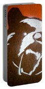 Grizzly Bear Graffiti Portable Battery Charger by Edward Fielding