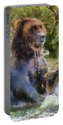 Grizzly Bear Photo Art 02 Portable Battery Charger
