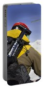 Group Heli Skiing, Helicopter Taking Portable Battery Charger