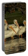 Group Of White Pelicans Portable Battery Charger