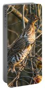 Grouse In An Apple Tree Portable Battery Charger