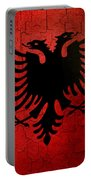 Grunge Albania Flag Portable Battery Charger