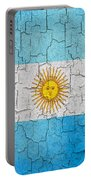 Grunge Argentina Flag Portable Battery Charger