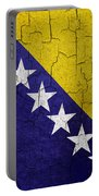 Grunge Bosnia And Hertzegoniva Flag Portable Battery Charger