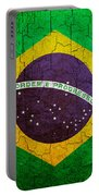 Grunge Brazil Flag Portable Battery Charger