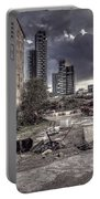 Grunge Cityscape Portable Battery Charger