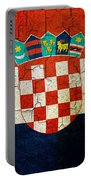 Grunge Croatia Flag Portable Battery Charger