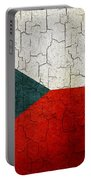 Grunge Czech Republic Flag Portable Battery Charger