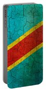 Grunge Democratic Republic Of The Congo Flag Portable Battery Charger