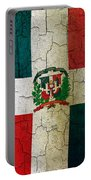 Grunge Dominican Republic Flag Portable Battery Charger