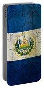 Grunge El Salvador Flag Portable Battery Charger
