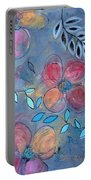 Grunge Floral II Portable Battery Charger