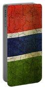 Grunge Gambia Flag Portable Battery Charger