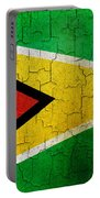 Grunge Guyana Flag Portable Battery Charger