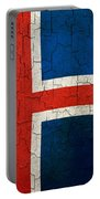 Grunge Iceland Flag Portable Battery Charger