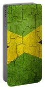 Grunge Jamaica Flag Portable Battery Charger