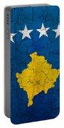Grunge Kosovo Flag Portable Battery Charger