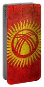 Grunge Kyrgyzstan Flag Portable Battery Charger