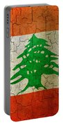 Grunge Lebanon Flag Portable Battery Charger