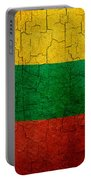 Grunge Lithuania Flag Portable Battery Charger